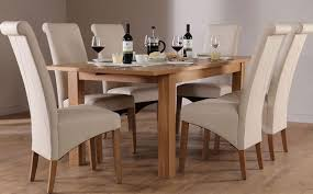 Oak Extending Dining Table And 8 Chairs Dining Room Outstanding Solid Oak Kitchen Table Second Oak