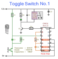 toggle switch with relay circuit schematic diagram wiring diagram