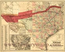 Texas And Mexico Map by And Pacific Railway