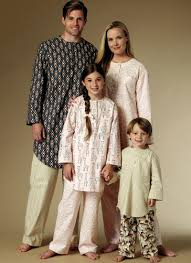 family sleepwear butterick patterns