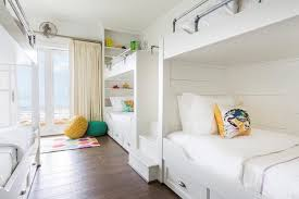 Bunk Beds In Wall Built In Cabinets Next To Bunk Bed Cottage Bedroom
