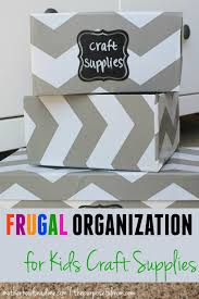 frugal organization for kids craft supplies the purposeful mom