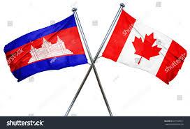 Cambodia Flag Cambodia Flag Combined Canada Flag Stock Illustration 427548331