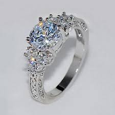 white sapphire wedding rings jacob alex ring 5 80 ct lab white sapphire wedding ring