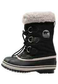 sorel black wedge boot sorel boots yoot pac winter boots