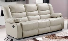 White Leather Recliner Sofa Appealing Recliners Vancouver Bc Within Sofa Reclining Sofa