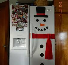 snowman refrigerator construction paper refrigerator and snowman