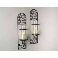 Wall Candle Holders Sconces Sconce Metal Wall Candle Holder With Mirror Metal Wall Art