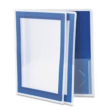 Resume Holder Flexi View Two Pocket Polypropylene Folder By Avery Ave47846