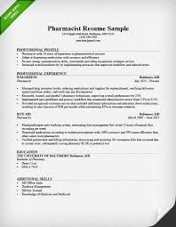 Profile Sample Resume by Pharmacist Cover Letter Sample Resume Genius