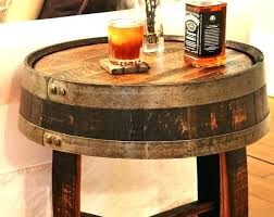 whiskey barrel table for sale whiskey barrel chairs for sale whiskey barrel end table handcrafted