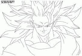 free coloring pages goku super saiyan 3 coloring