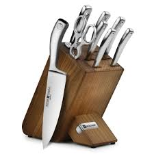 wusthof culinar petec knife block set 9 piece cutlery and more