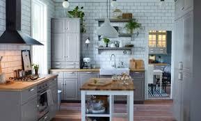 cuisine bois ikea d co cuisine grise ikea 28 le havre plan de travail bois newsindo co