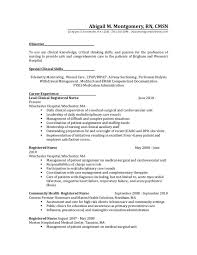 Entry Level Nurse Resume Sample by Nursing Resumes Examples Medical Surgical Nurse Resume Example
