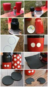 How To M by How To Make Mickey And Minnie Mouse Mason Jars Reciclagem E