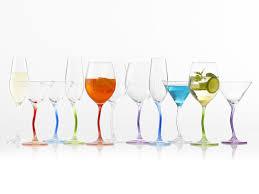 porte seau a champagne sur pied flûte à champagne en verre transparent pied ondulé 25cl lot de 6