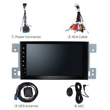8 inch aftermarket android 6 0 touch screen gps navigation system
