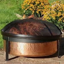 Burning Pit Of Fire - amazon com sunnydaze hammered 100 copper wood burning fire pit