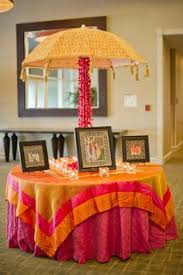 Arangetram Decoration Receiving Table Cute Idea But I Abhor The Colors That Have Been