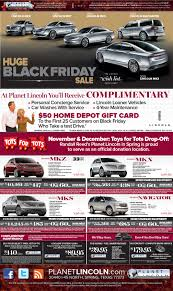 black friday home depot gift card black friday planet lincoln sales extravaganza randall reed u0027s