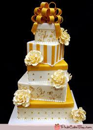 wedding gift gold gold and white gift box wedding cake wedding cakes