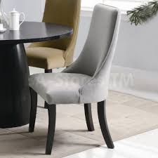 Grey Fabric Dining Room Chairs High Back Dining Room Chairs Comfy Upholstered Light Cheap Dining