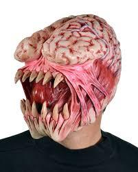 Halloween Monster Mask by Brain Eater Alien Monster Latex Halloween Mask For Sale
