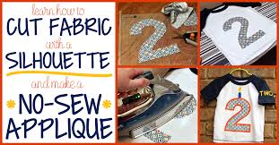 how to cut fabric and make a no sew appliqué