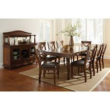 9 Piece Dining Room Set Steve Silver Wyndham 9 Piece Dining Table Set Distressed Tobacco