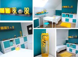 theme chambre garcon idée décoration chambre enfant jaune
