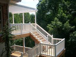 modern white nuance of the elevated deck plans designs that has