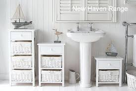 Freestanding Bathroom Furniture White Free Standing Bathroom Storage New Range Of Furniture Range