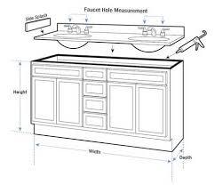 Vessel Sink Cabinet Height Enchanting Bathroom Vanity Dimensions With Double Sink Vanity