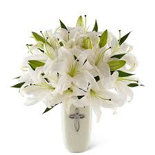 Flowers Delivered With Vase Buy Online Sale Only Faithfully Yours Sympathy Vase A Bella Mia