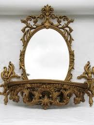 Wall Shelf Sconces Ornate Gold Mirror Wall Sconces Bracket Shelf Cinderella French