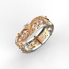 ring with floral ornament 7 3d printable model cgtrader