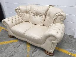 Cream Leather Club Chair Original Vintage Cream Leather Chesterfield Style Pendragon Sofa