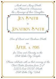 lds wedding invitations wedding invitation wording divorced parents groom the bottom