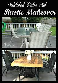 White Glass Patio Table Outdated Patio Set Rustic Makeover She Bought A Black And White