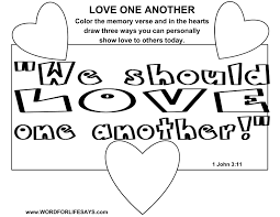 love one another coloring page eson me