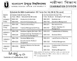 open university ba bss exam routine 2016 all result bangladesh