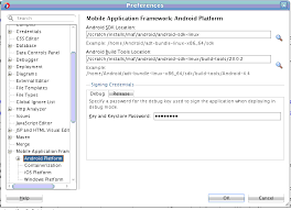 android build tools setting up the development environment
