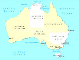 Australian Map Australia Map And Satellite Image Also Map Of Austrial