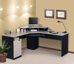 fabulous glass computer desk corner with comfortable corner glass