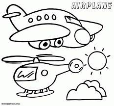 jet airplane coloring printable pages