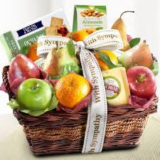 sympathy gift baskets sympathy fruit basket with cheese and nuts ap8019s a gift inside
