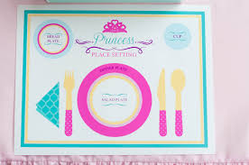 table setting placemat a swan princess party manners anders ruff custom