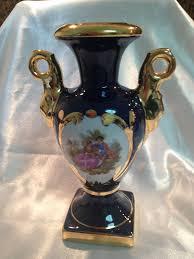 Antique Cobalt Blue Vases Vintage Cobalt Blue And Gold Limoges Porcelain Vase 5 25