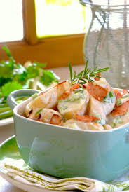 warm bacon blue cheese u0026 spring onion potato salad one of our